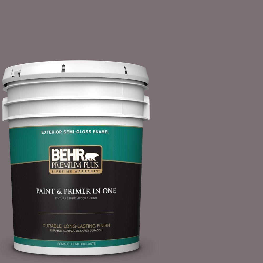 BEHR Premium Plus 5-gal. #HDC-AC-27 Heather Sachet Semi-Gloss Enamel Exterior Paint