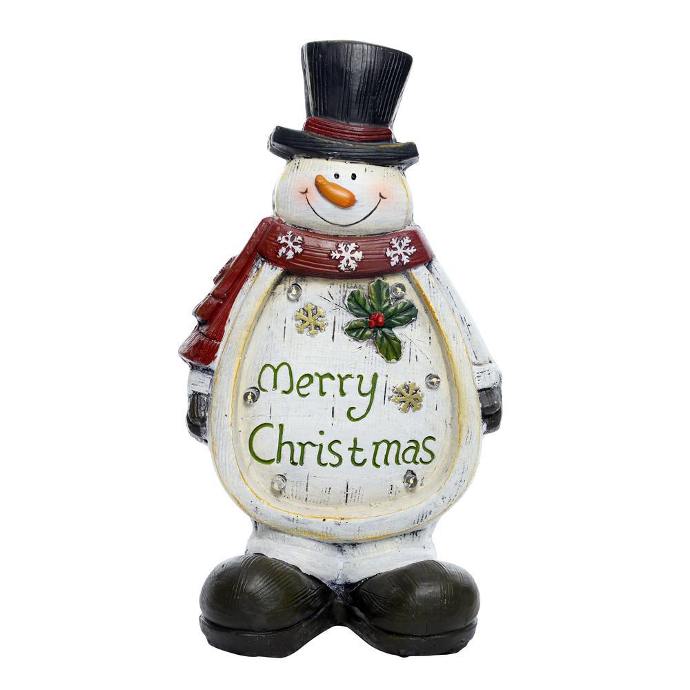 Christmas Snowman Light Up Statue Decor- TM