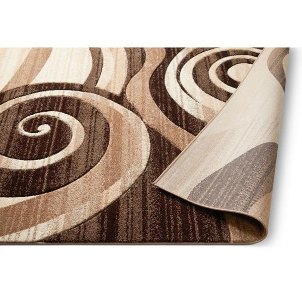 Well Woven Ruby Whirlwind 2 Ft X 3 Ft Modern Geometric Abstract Swirls Brown Area Rug 600583 The Home Depot