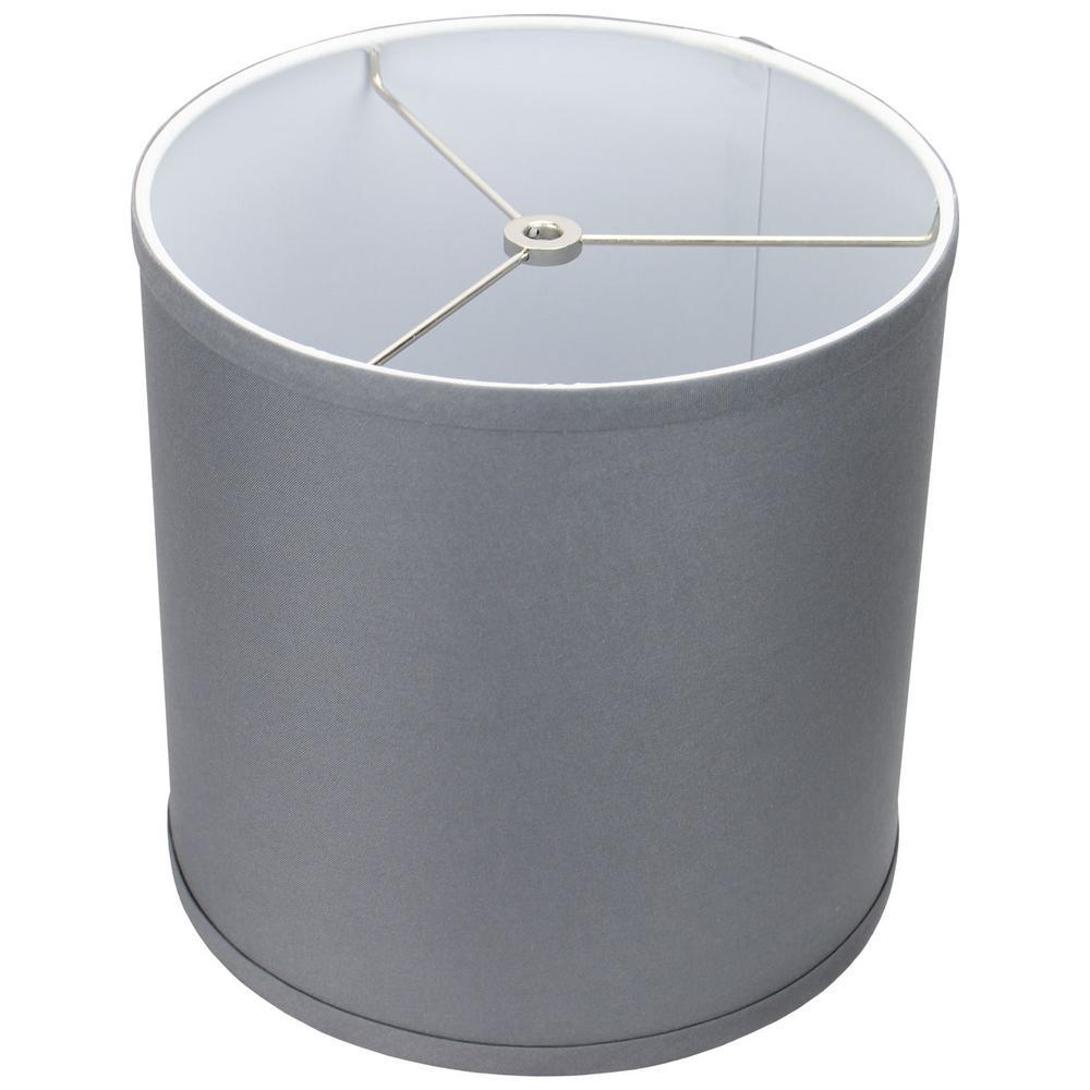 10 in. Top Diameter x 10 in. H x 10 in. Bottom Diameter Linen Graphite Drum Lamp Shade