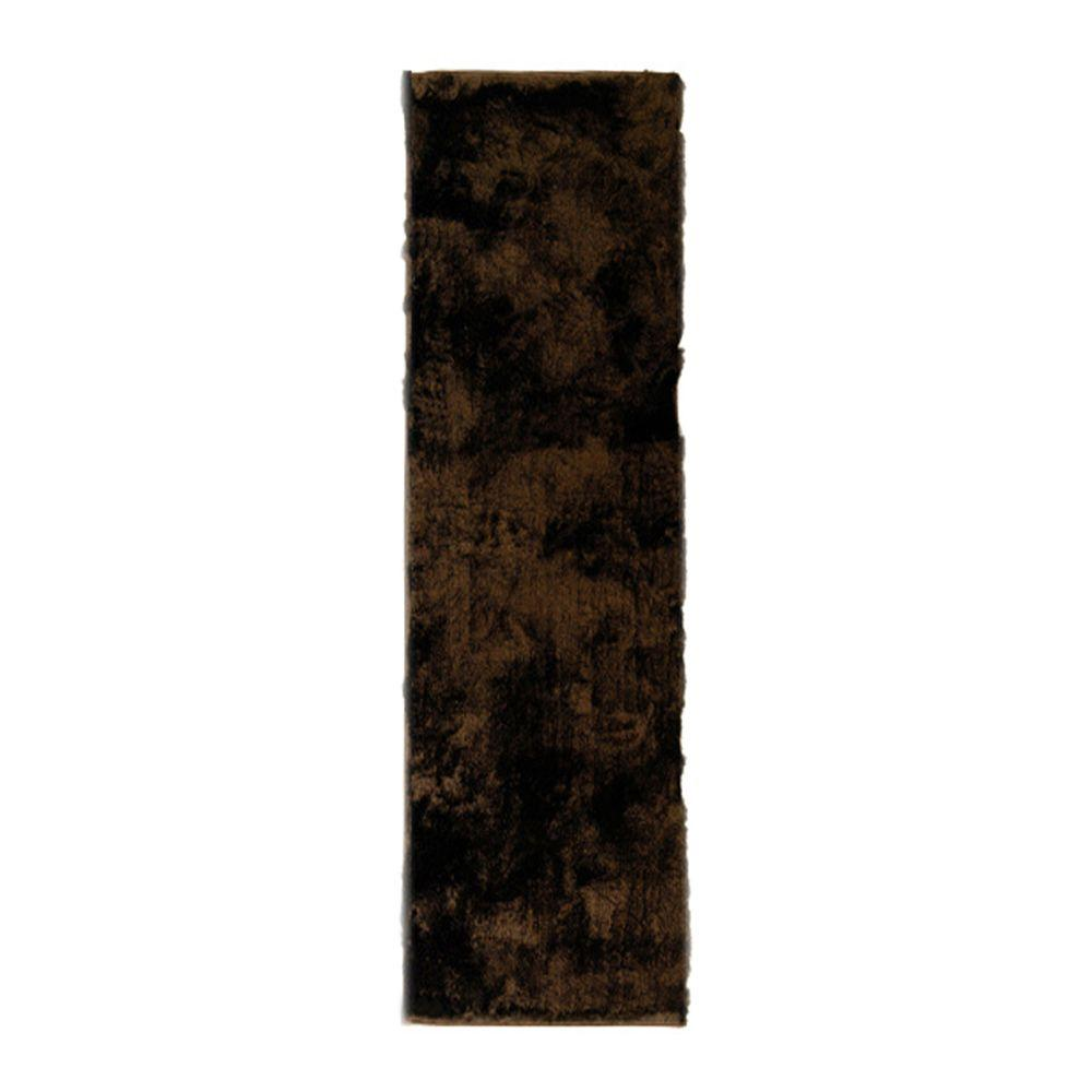 So Silky Chocolate 3 ft. x 9 ft. Area Rug