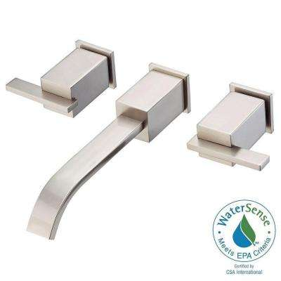 Sirius 2-Handle Wall-Mount Lavatory Faucet Trim Only in Brushed Nickel
