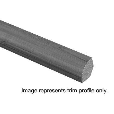 Grey Wood 5/8 in. Thick x 3/4 in. Wide x 94 in. Length Vinyl Quarter Round Molding