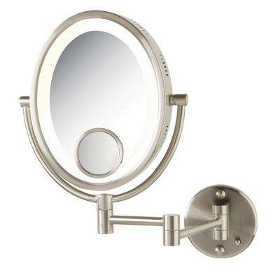 11 in. x 15 in. Bi-View Lighted Wall Makeup Mirror