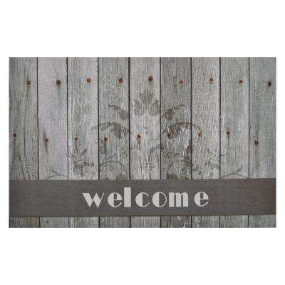 Boardwalk Welcome 18 in. x 30 in. Rubber Entrance Mat