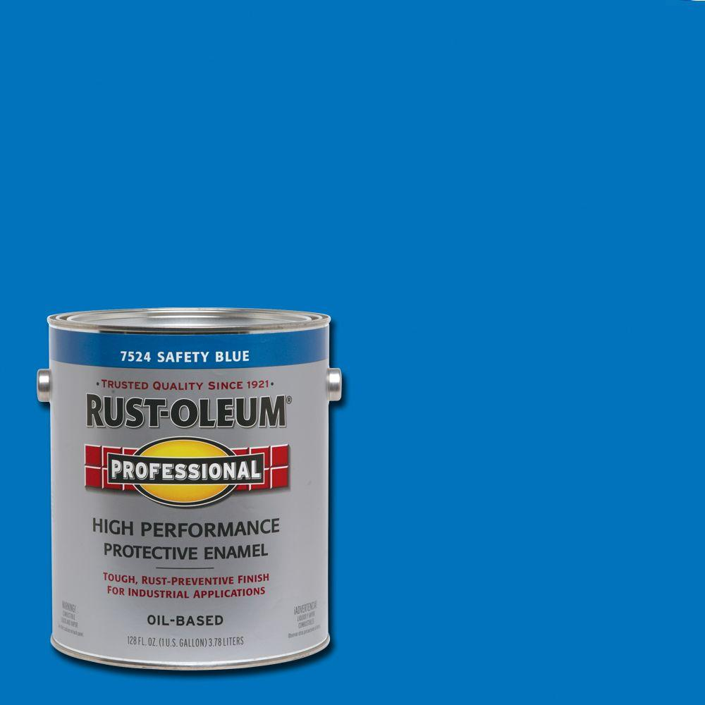 Rust-Oleum Professional 1 gal. High Performance Protective Enamel Gloss Safety Blue Oil-Based Interior/Exterior Industrial Paint (2-Pack)