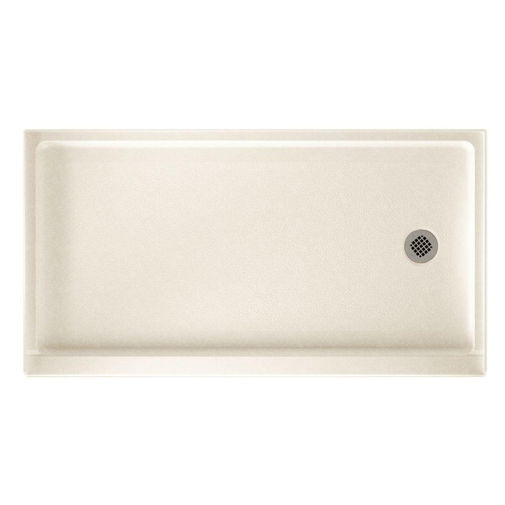 32 in. x 60 in. Solid-Surface Single Threshold Retrofit Right-Drain Shower