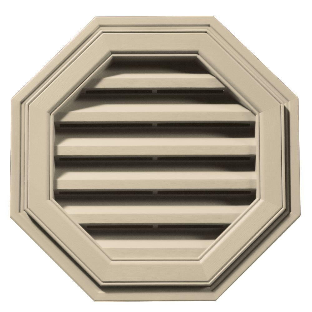 Builders Edge 18 in. Octagon Gable Vent in Almond