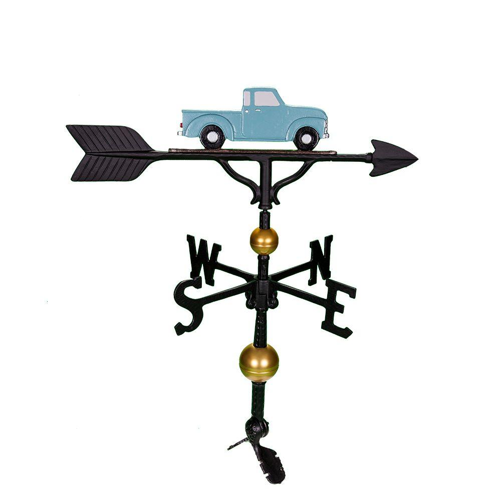 Montague Metal Products 32 in. Deluxe Teal Classic Truck Weathervane