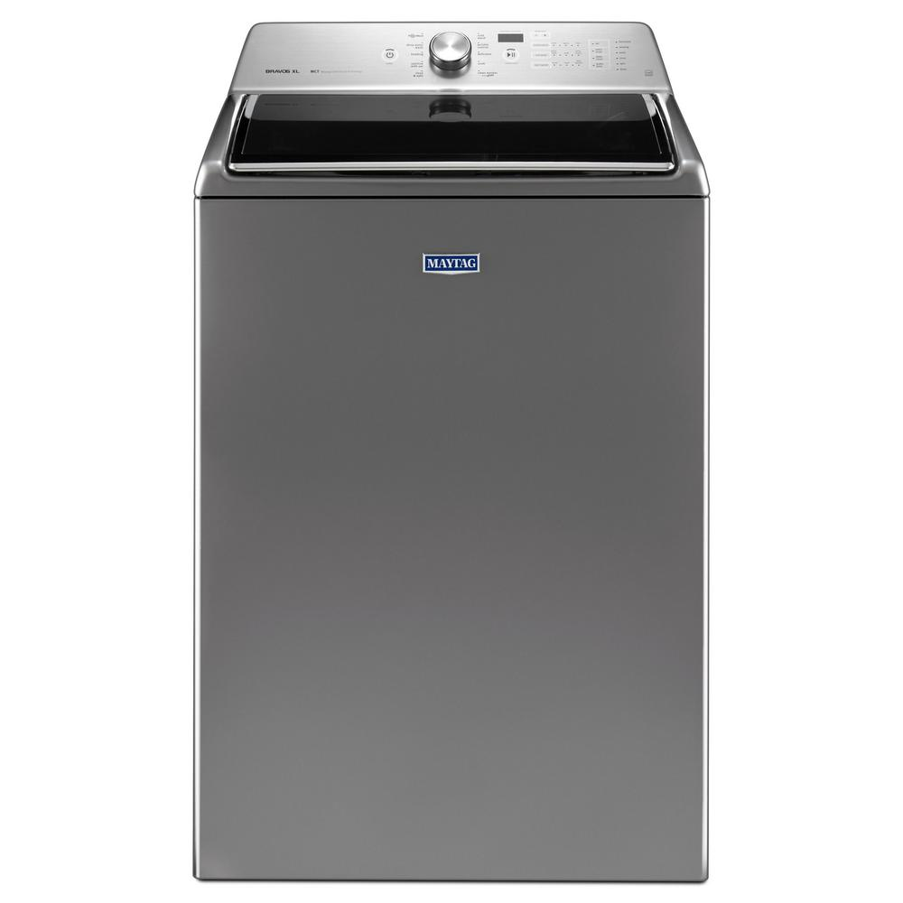 maytag 5 3 cu ft high efficiency chrome shadow top load washer with deep clean option energy. Black Bedroom Furniture Sets. Home Design Ideas