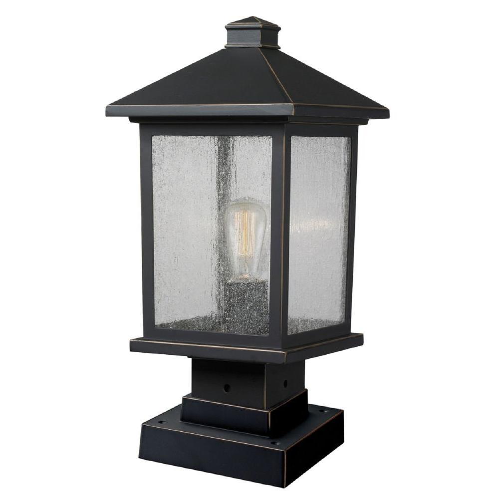Pier mount lights outdoor lighting accessories outdoor lighting malone 1 light oil rubbed bronze outdoor pier mount aloadofball Images