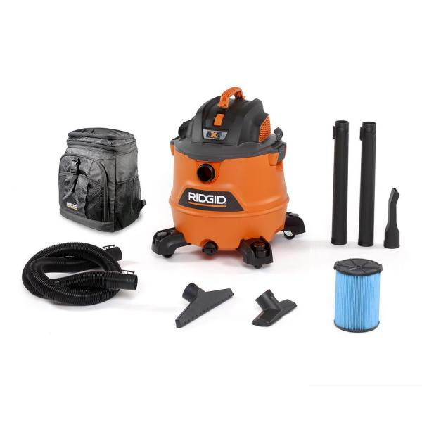 16 Gal. 6.0-Peak HP NXT Wet/Dry Shop Vacuum with Fine Dust Filter, Hose, Accessories and Backpack Cooler