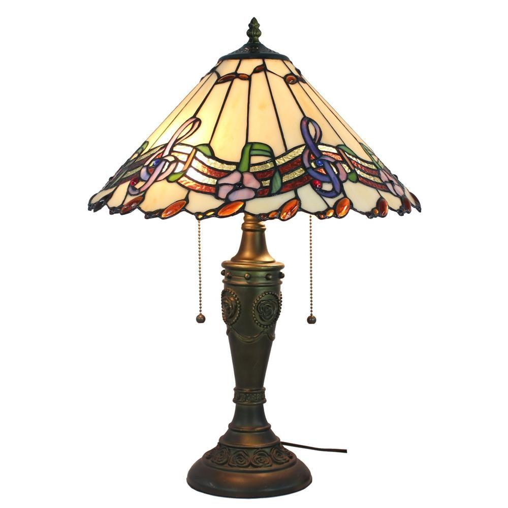 Amora Lighting 24 In Tiffany Style Musical Notes Table