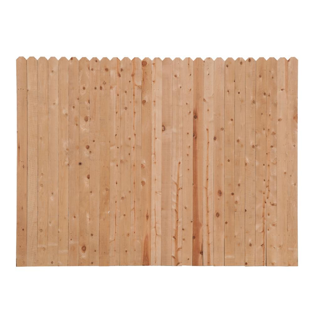 6 Ft H X 8 Ft W Spruce Pine Fir Dog Ear Fence Panel 4449