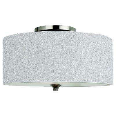 Stirling 2-Light Brushed Nickel Flushmount
