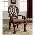Wyndmere Cherry Traditional Style Arm Chair