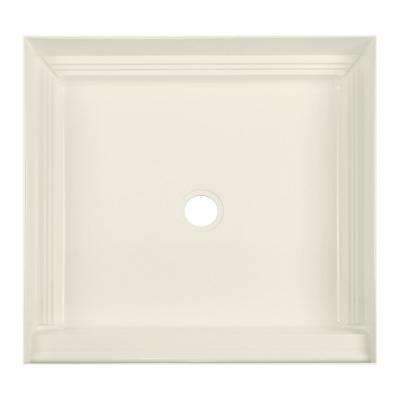 32 in. x 32 in. Single Threshold Shower Base in Biscuit