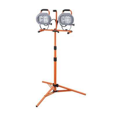 1000-Watt Halogen Twin-Head Tripod Work Light