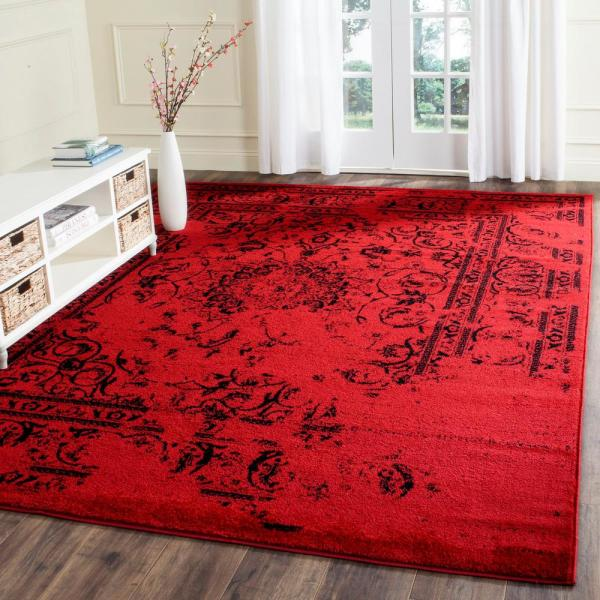 Safavieh Adirondack Red Black 8 Ft X 10 Ft Area Rug Adr101f 8 The Home Depot