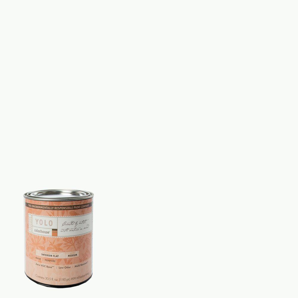 YOLO Colorhouse 1-Qt. Imagine .01 Flat Interior Paint-DISCONTINUED