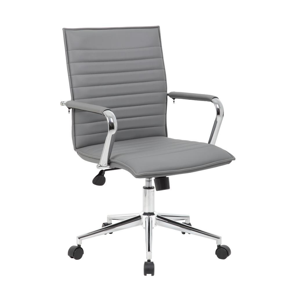 Vinyl Grey Task Chair