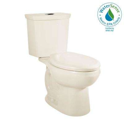 H2Option Tall Height 2-piece 0.92/1.28 GPF Dual Flush Elongated Toilet in Linen, Seat Not Included