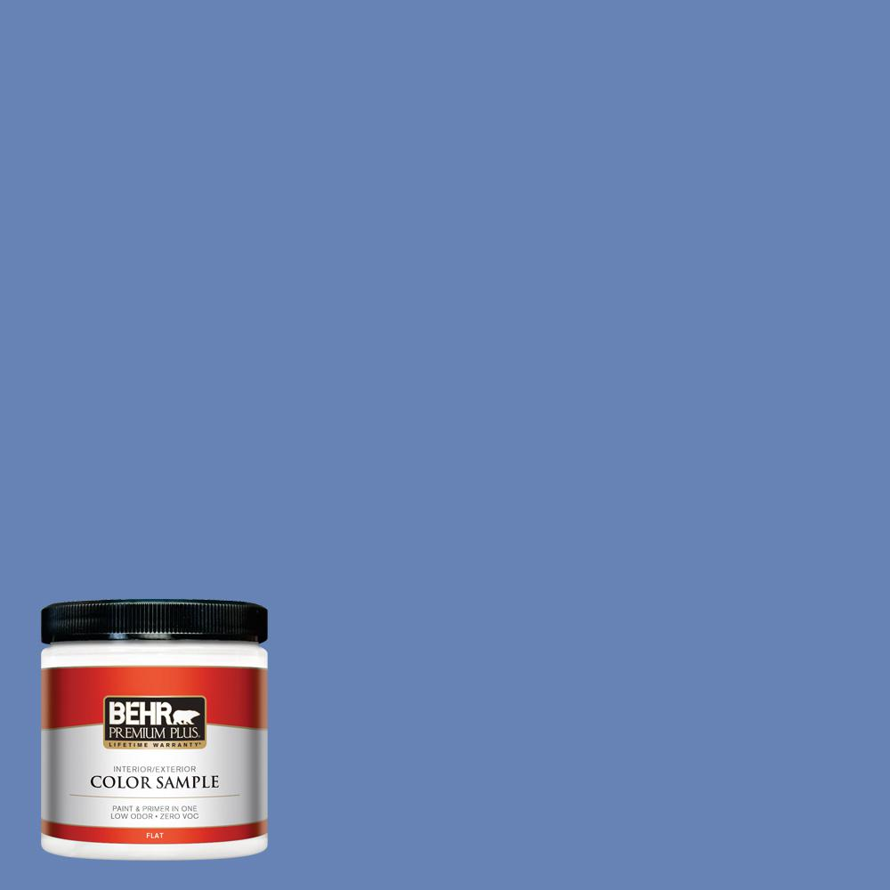 #PPU15 06 Neon Blue Flat Interior/Exterior Paint Sample