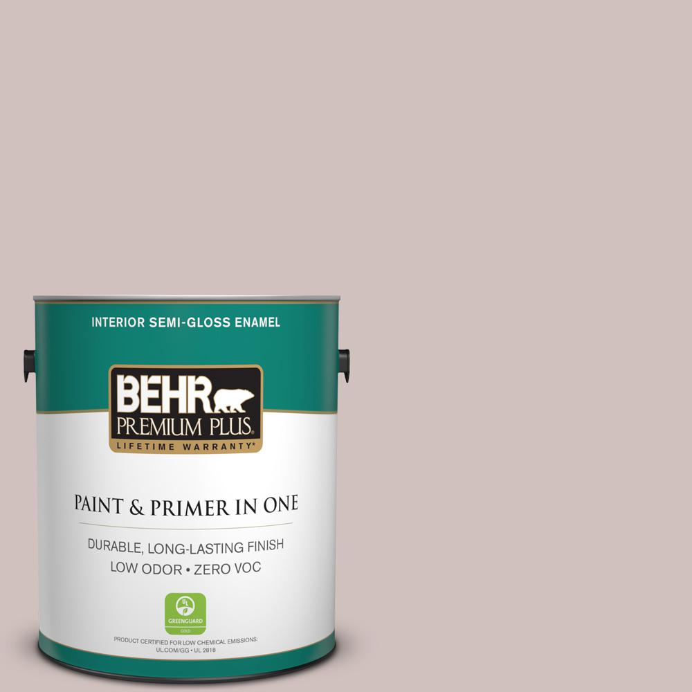 BEHR Premium Plus 1-gal. #720A-3 Malt Zero VOC Semi-Gloss Enamel Interior Paint