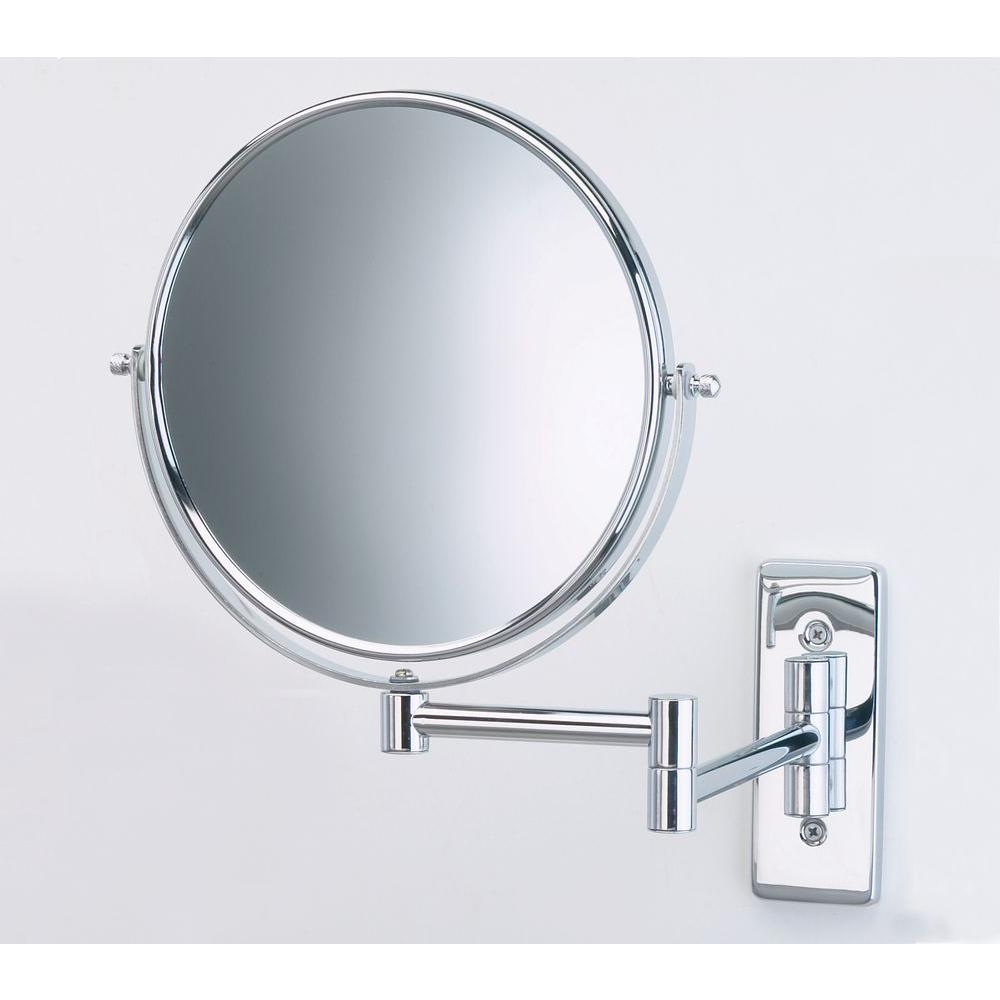 Dia Wall Mount Mirror In Chrome