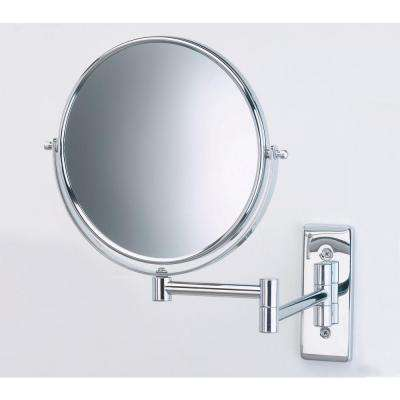 8 in. Dia Wall Mount Mirror in Chrome