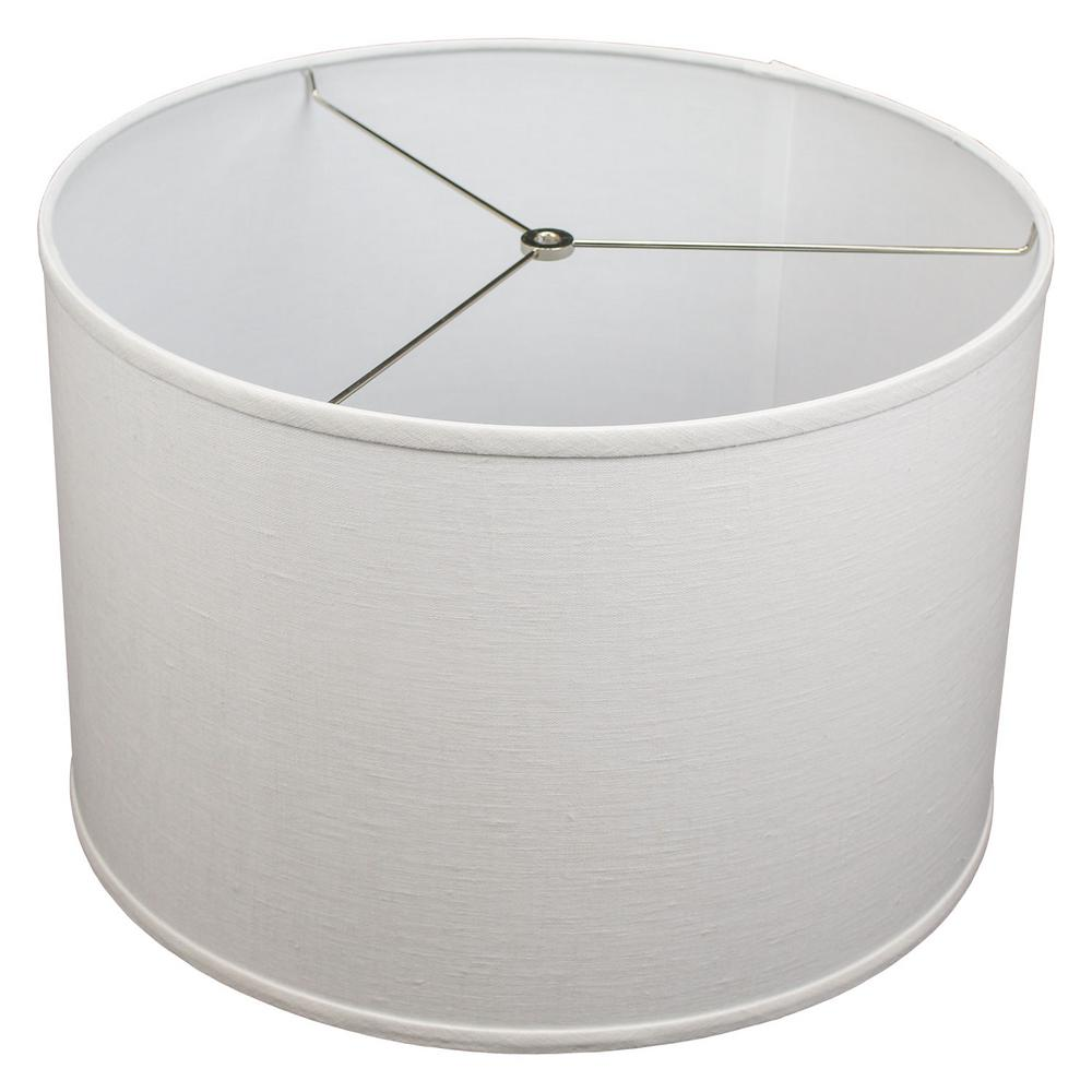 Fenchelshades Fenchel Shades 18 In Top Dia X Bottom 12 H Designer Linen Off White Drum Lamp Shade