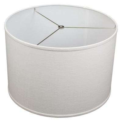 Fenchel Shades 18 in. Top Dia x 18 in. Bottom Dia x 12 in. H  Designer Linen Off White Drum Lamp Shade