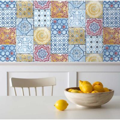 Colorful Moroccan Tile Vinyl Strippable Roll (Covers 30.75 sq. ft.)