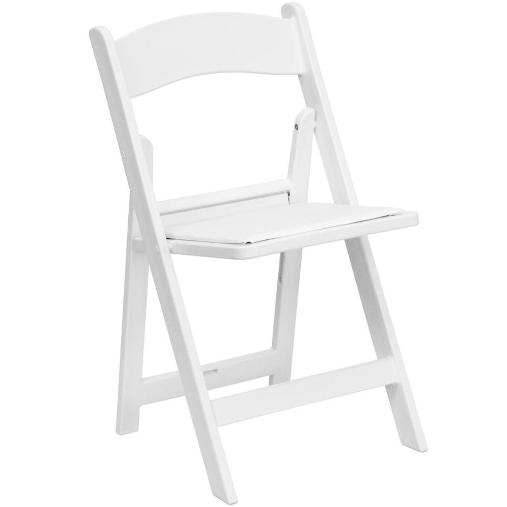 Advantage White Resin Folding Chair-RFWCA-100