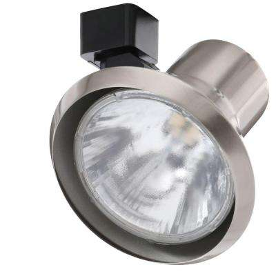 75-Watt Flared Steps Satin Chrome Track Lighting Head