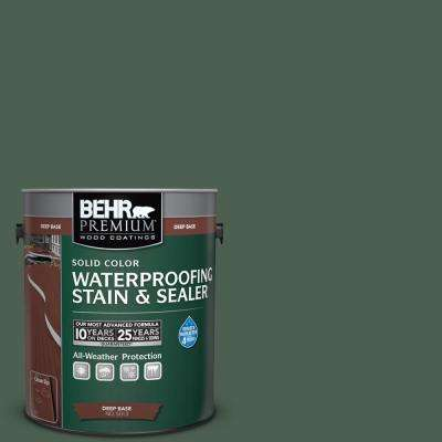 1 gal. #N400-7 Vine Leaf Solid Color Waterproofing Exterior Wood Stain and Sealer