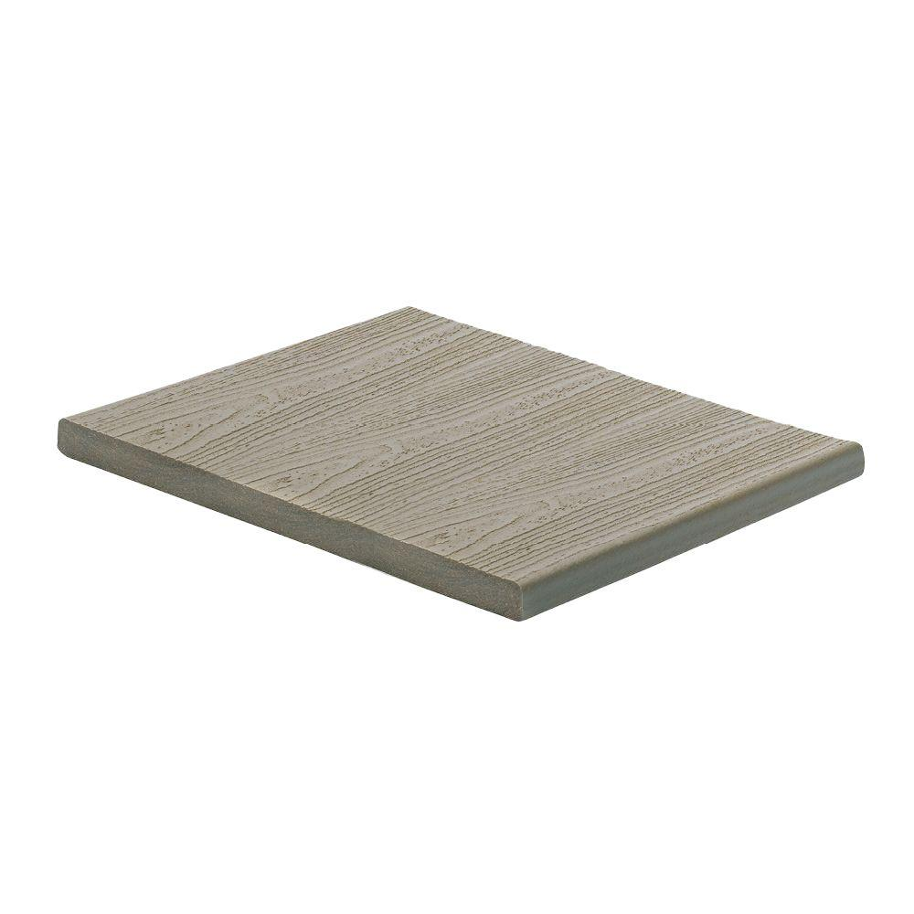Trex transcend 1 in x 12 in x 12 ft gravel path capped for Composite deck boards reviews