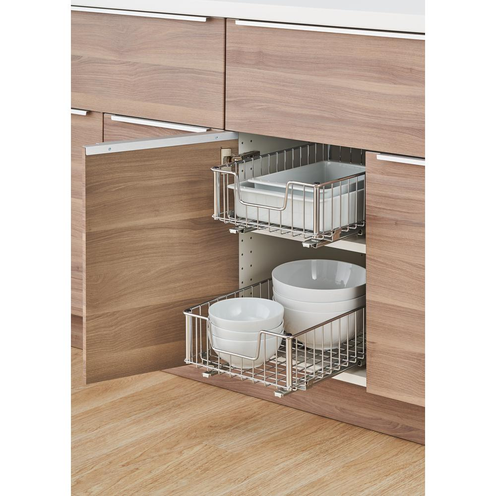 Pull Out Sliding Metal Kitchen Pot Cabinet Storage: TRINITY EcoStorage 11.5 In. W X 17.75 In. D X 6.25 In. H