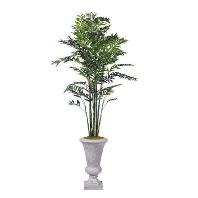 Indoor Deluxe Bamboo Tree in Tall Cement Urn