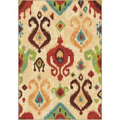 Ancient Multi Bright Colors 5 ft. 3 in. x 7 ft. 6 in. Southwestern Indoor Area Rug