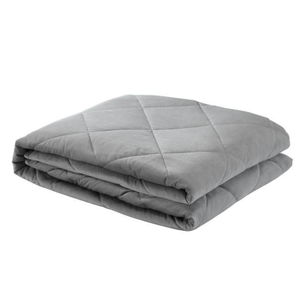 Deka 2-in-1 Warm and Cool Grey Weighted Blanket 15 lbs. 48 in. x 72 in.