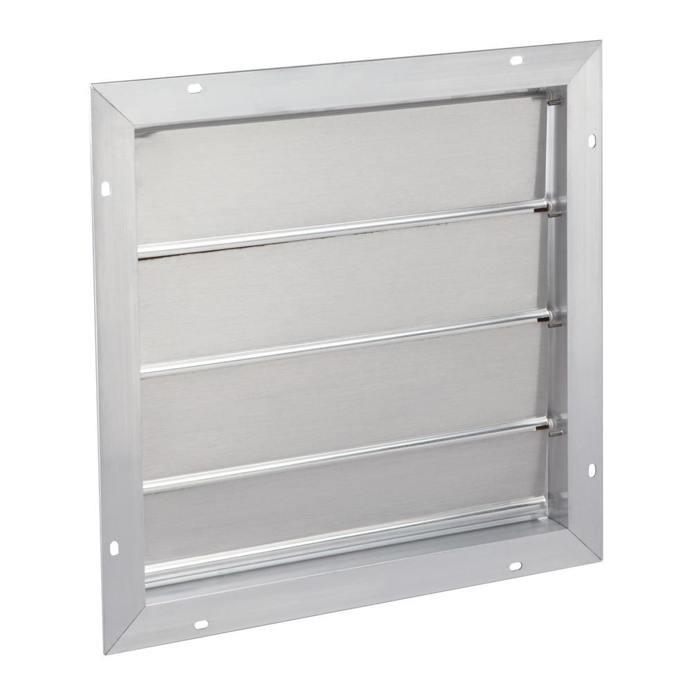 Broan-NuTone 16.75 in. x 16.75 in. Aluminum Automatic Gable Square Mount Louvered Shutter Attic Vent