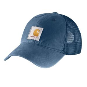 Carhartt Men s OFA Dark Blue Cotton Cap Headwear-100286-476 - The Home Depot 789a43f99e0