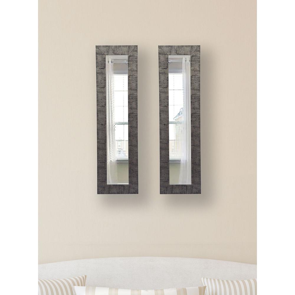 13.5 inch x 27.5 inch Safari Silver Vanity Mirror (Set of 2-Panels) by