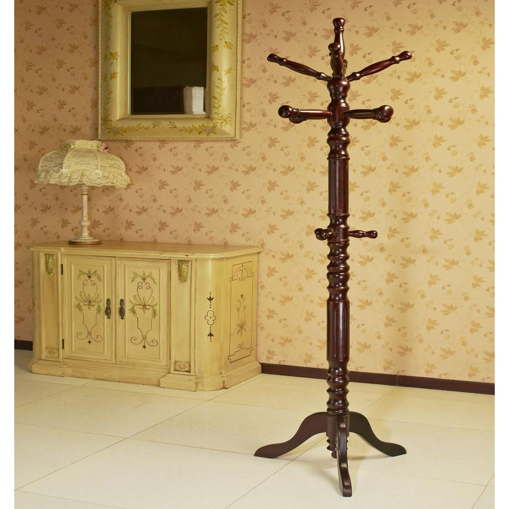 Coat Rack - Brown - Coat Racks - Entryway Furniture - The Home Depot