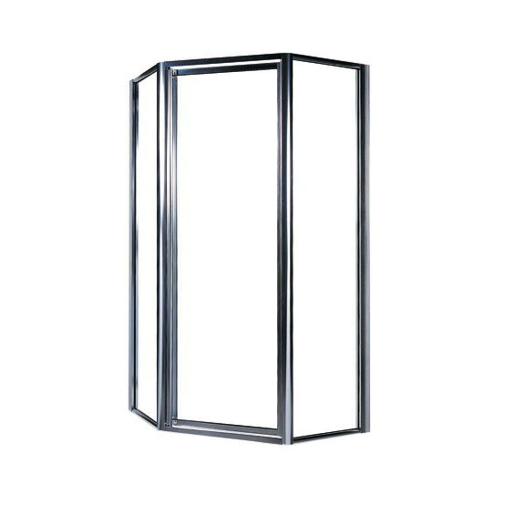 Swan 38 in. x 70 in. Framed Neo-Angle Pivot Shower Door in  sc 1 st  Home Depot & Swan 38 in. x 70 in. Framed Neo-Angle Pivot Shower Door in Chrome ...