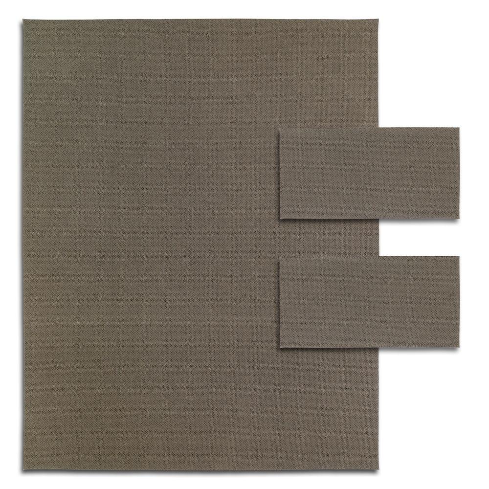 Martha Stewart Living Mount Vernon Chocolate Truffle (1) 8 ft. x 10 ft. and (2) 2 ft. x 4 ft. 3 Piece Rug Set-DISCONTINUED