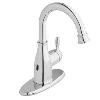 Mandouri Touchless Single Hole Single-Handle High-Arc Bathroom Faucet in Chrome
