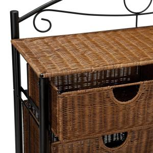 Peachy Southern Enterprises Jerome 6 Drawer Iron And Wicker Storage Squirreltailoven Fun Painted Chair Ideas Images Squirreltailovenorg