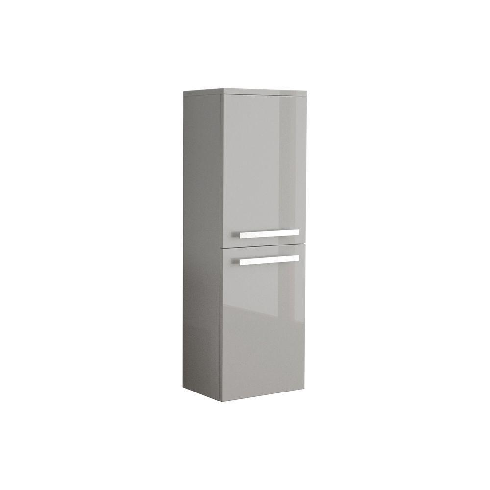 Ambra 14-9/50 in. W Wall Mounted Linen Cabinet in Glossy Grey